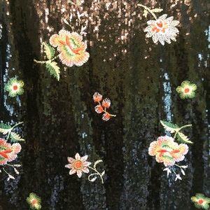 Zara Tops - zara black sequin floral embroidered top